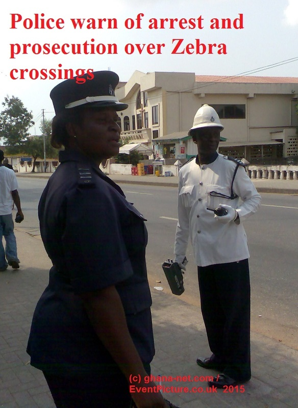Picture of Ghana Police warn of arrest and prosecution over Zebra crossings-Accra-police-Service