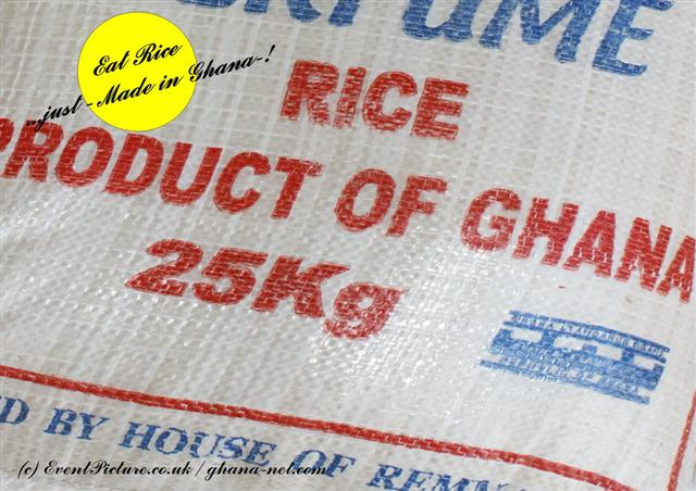 Ghana produced rice