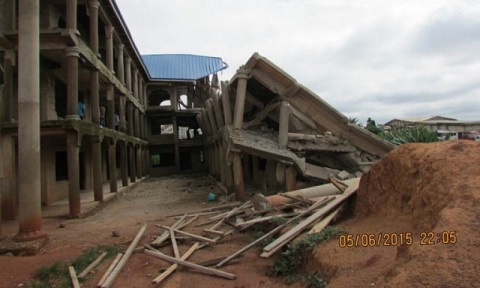 15-classroom block collapses after heavy rains, Ghana, Flood Pictures, Ghana Flood, Accra,
